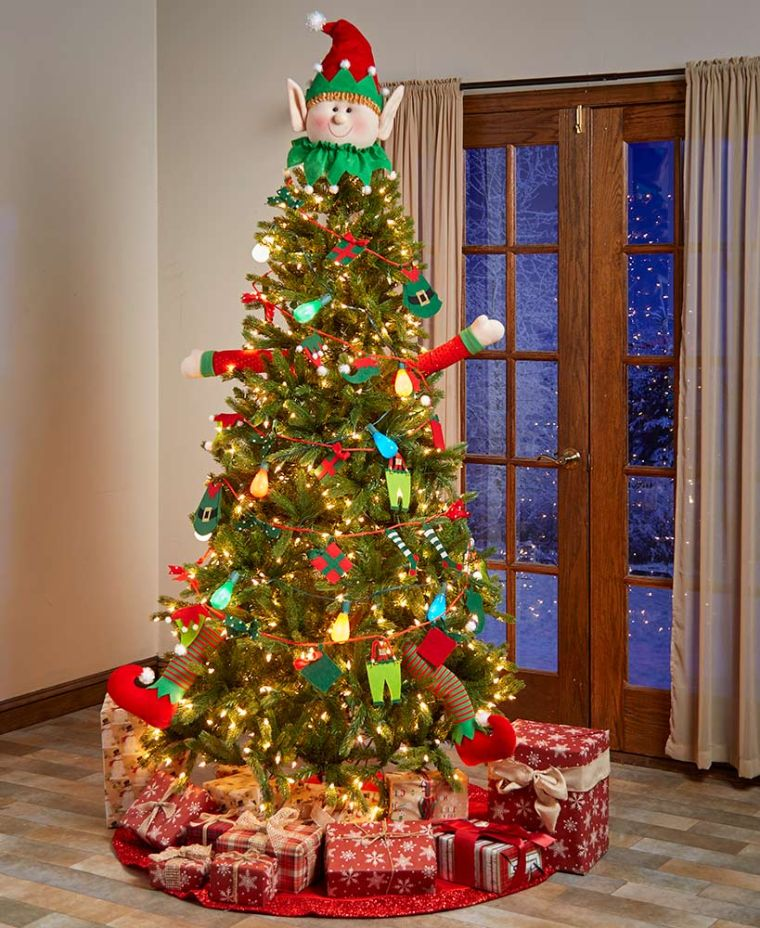 Christmas elves tree