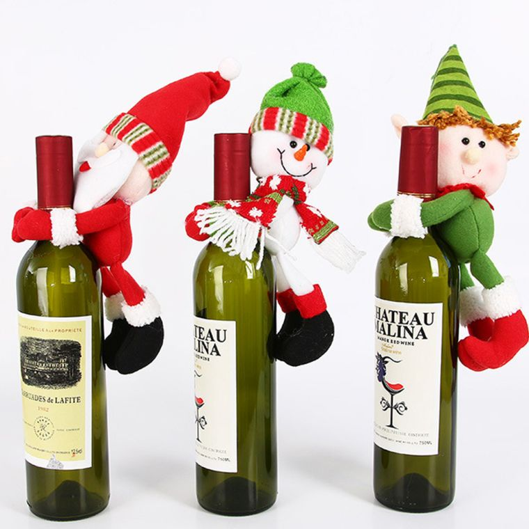 Christmas elves bottles