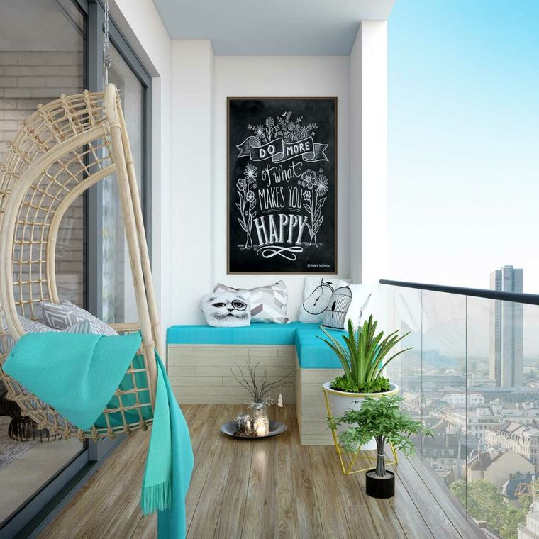 decorate minimalist small balcony
