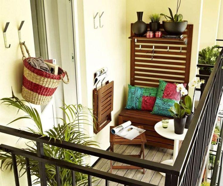 decorate balcony small furniture