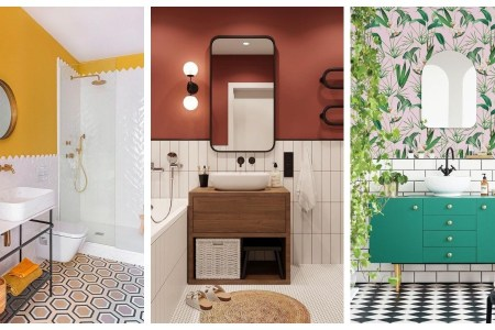 Half-height tiled bathrooms The ultimate in bathroom decor!