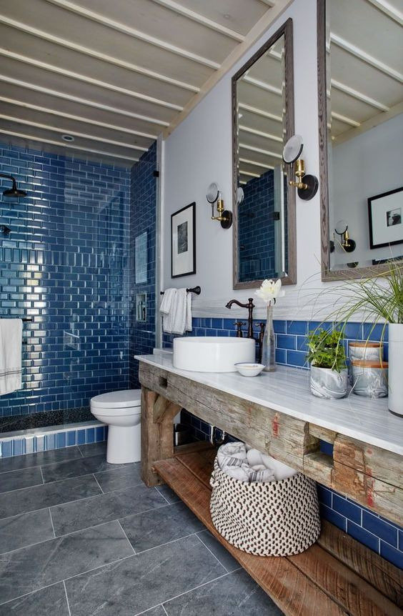 Half-height tiled bathrooms The ultimate bathroom decor ...