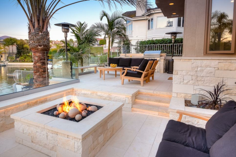 fire pit terrace decoration
