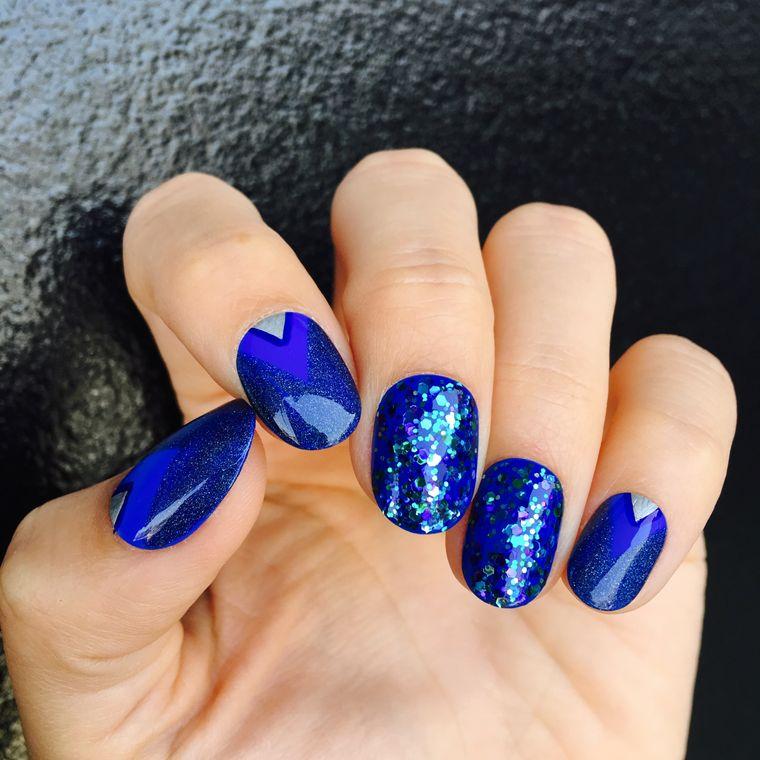 blue manicure types