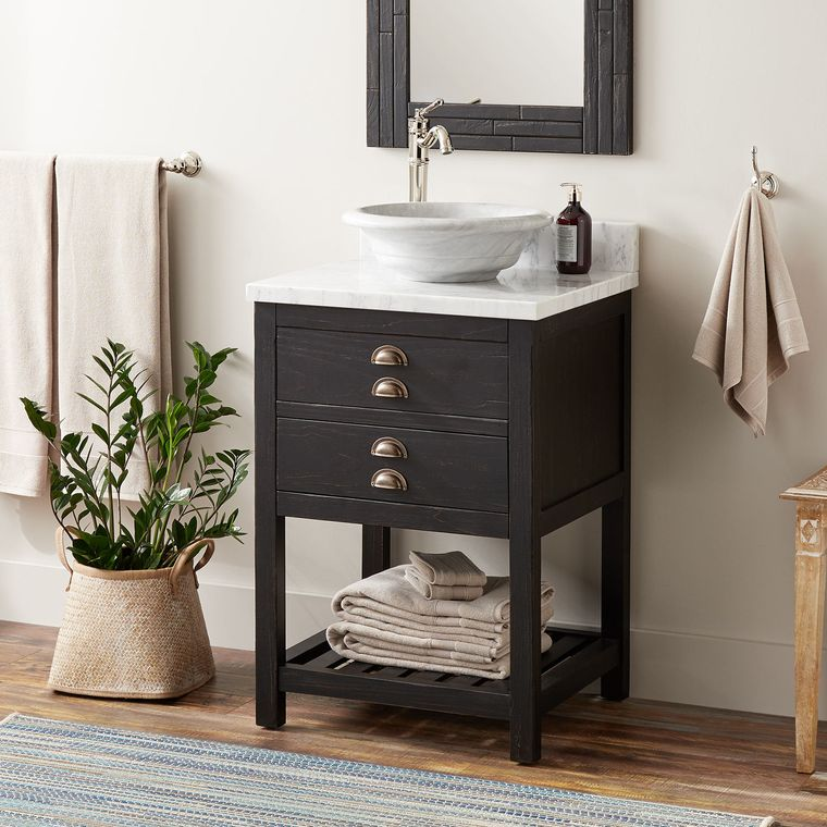 DIY simple bathroom vanity