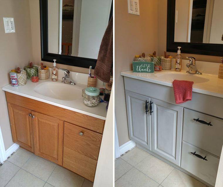 DIY vanity bathroom restoration