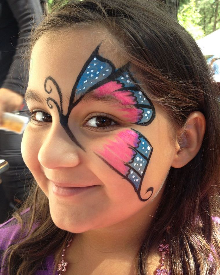 butterfly children's face painting