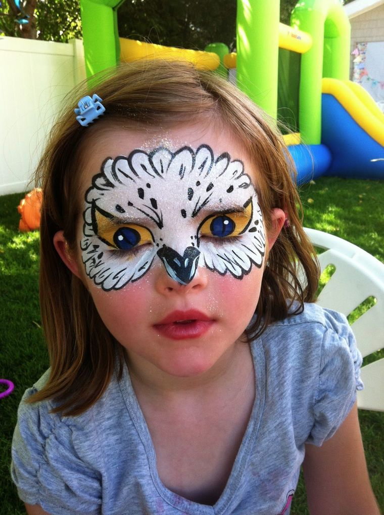 owl children's face painting
