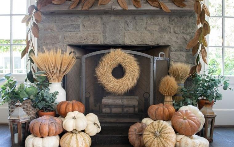 ears of wheat fireplace