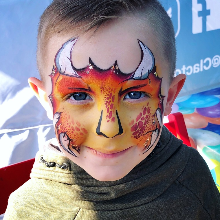 dragon child face paint