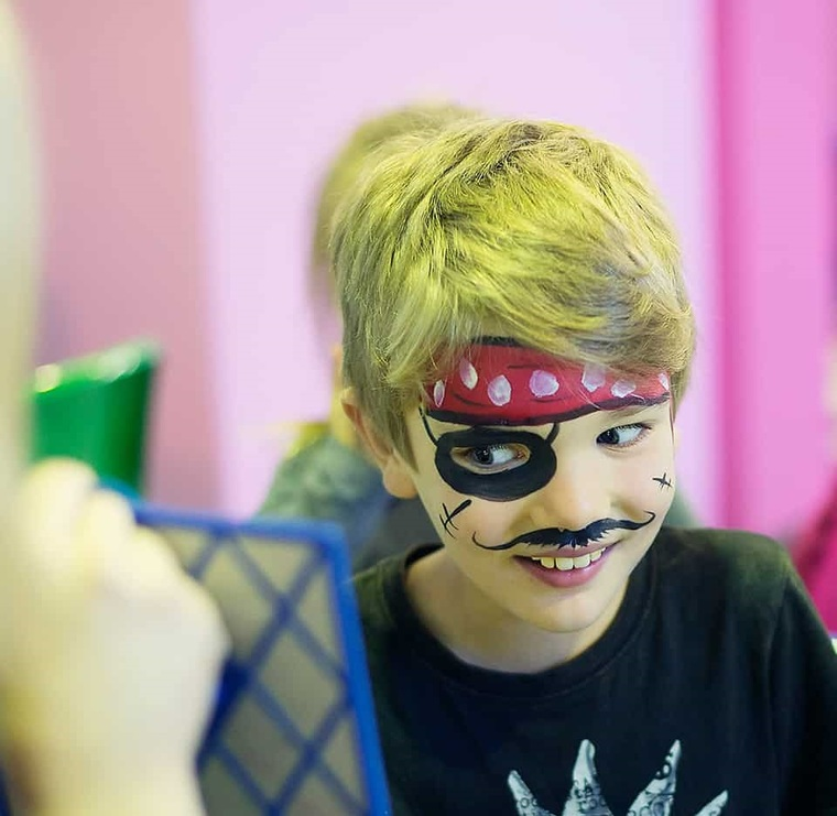 pirate children's face painting