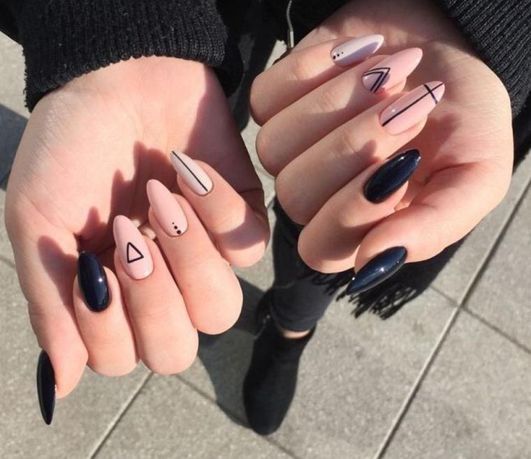 beautiful-nails-geometric-design-girl