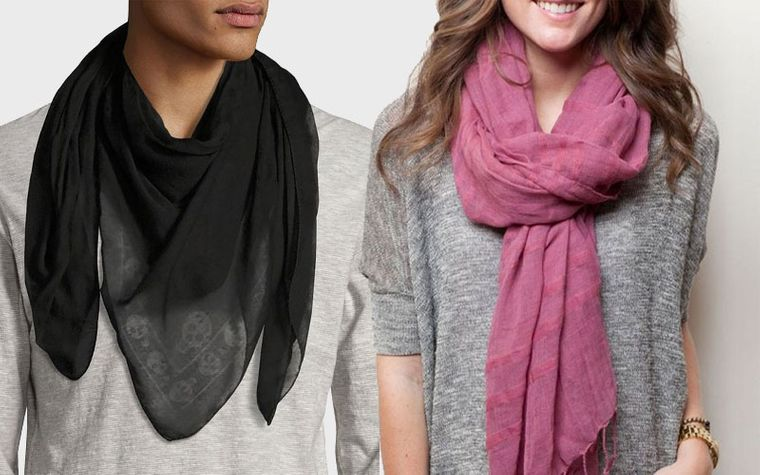 types of discreet scarves