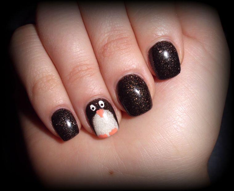 Penguin Christmas Nail Designs