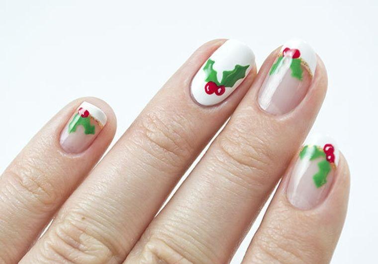 Holly Christmas Nail Designs