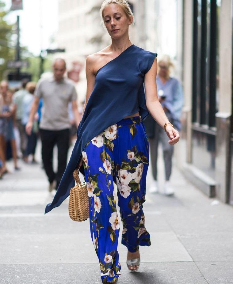 floral design blue background