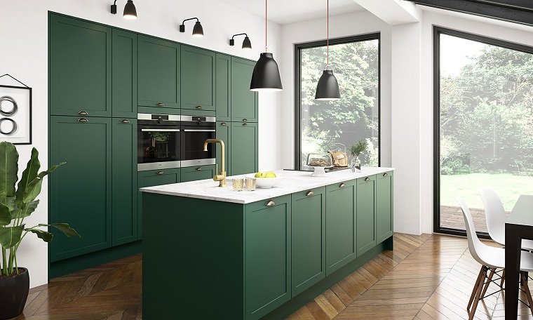 kitchens 2021-trends-color-green