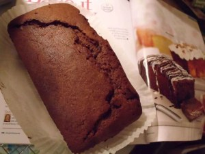 Undecorated Double Chocolate Loaf Cake