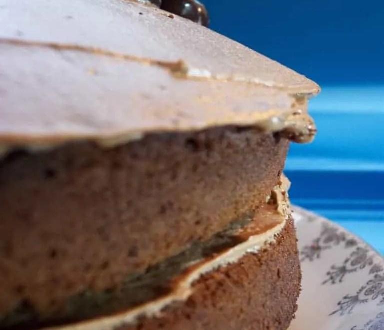 Side of a Chocolate and Tia Maria Cake