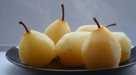 Champagne Poached Pears