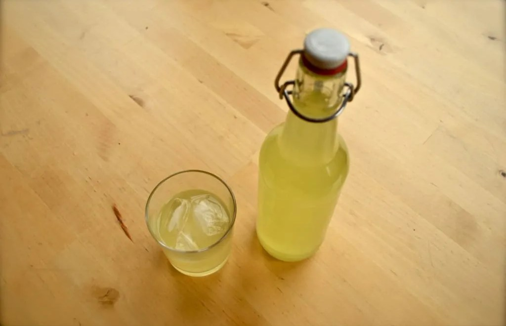 Glass & Bottle of Limoncello