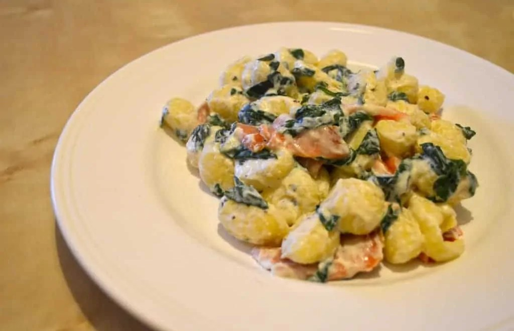 Spinach & Smoked Salmon Gnocchi