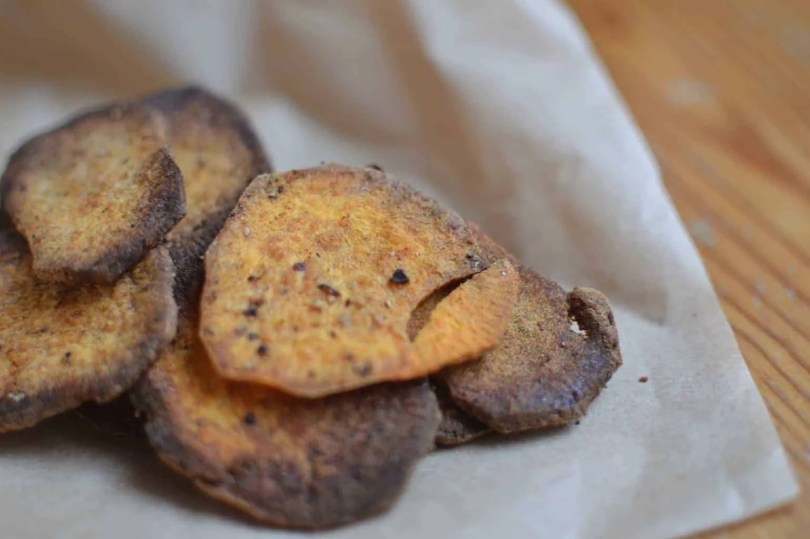 Sweet Potato and Harissa Crisps