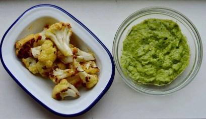 Roasted cauliflower with pesto