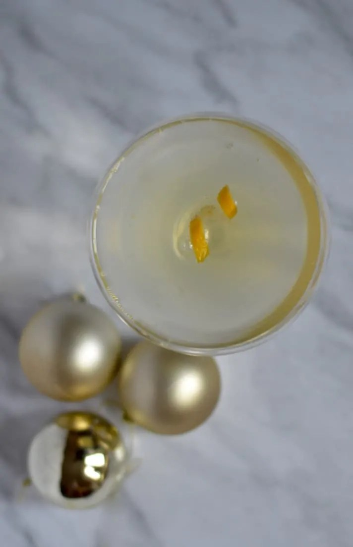 lemon and honey prosecco