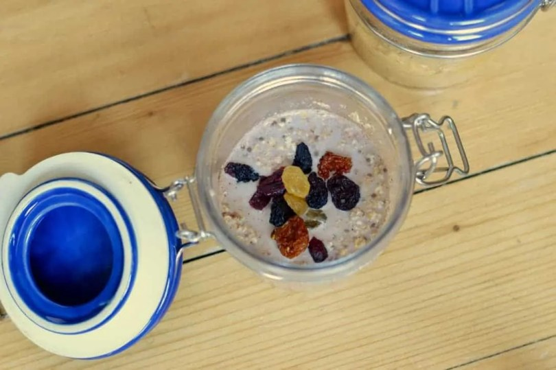 Overnight oats kilner jar
