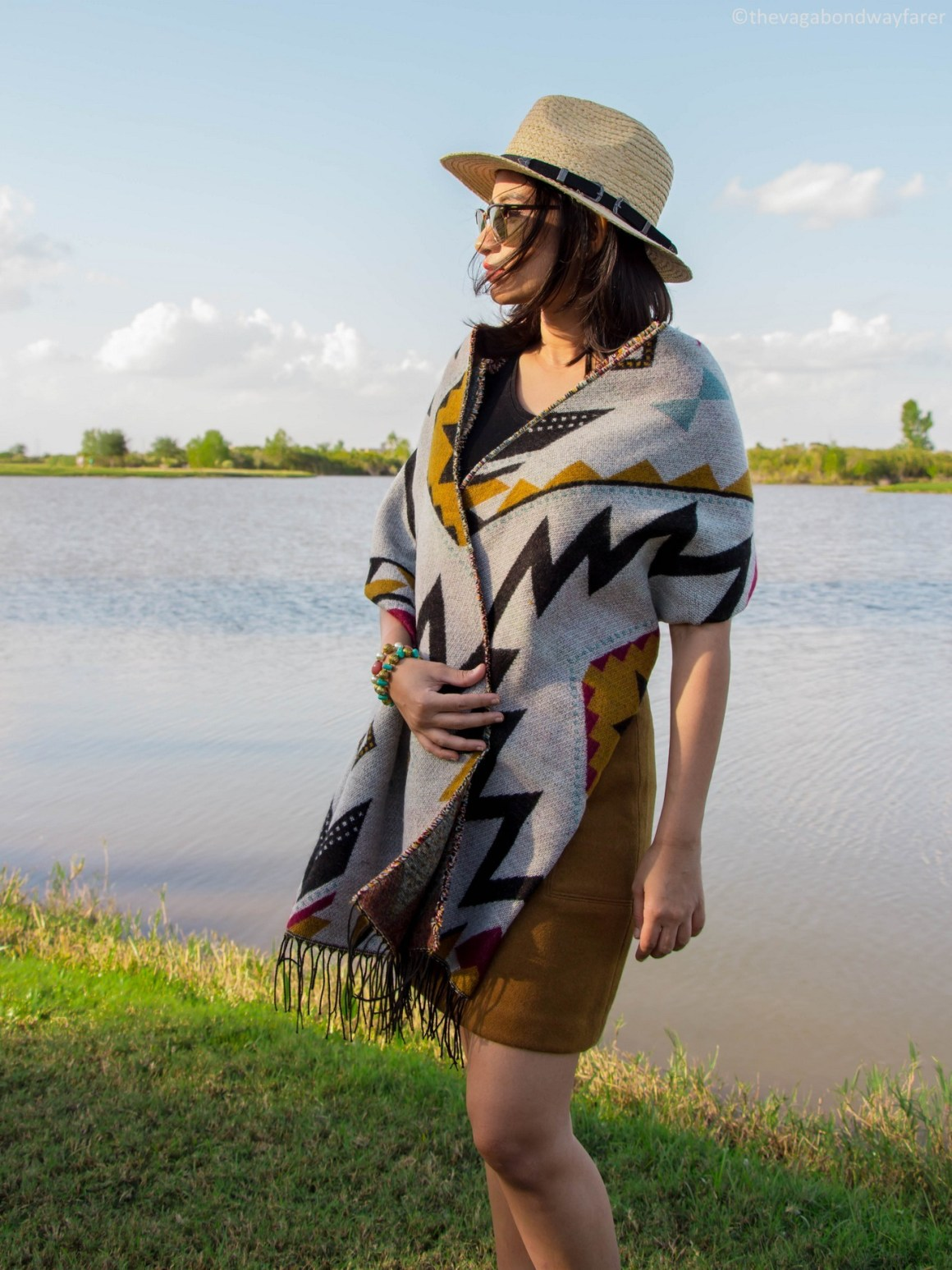 Geometric Blanket Scarf - The Vagabond Wayfarer