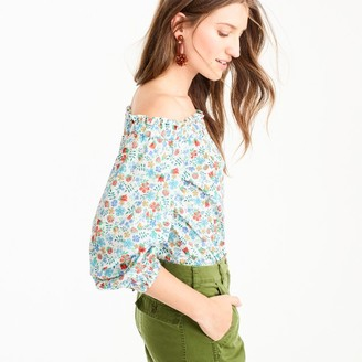 JCrew Floral Off-shoulder top