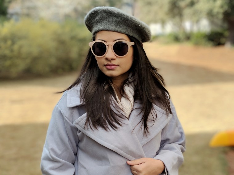 Grey Beret & Wool coat