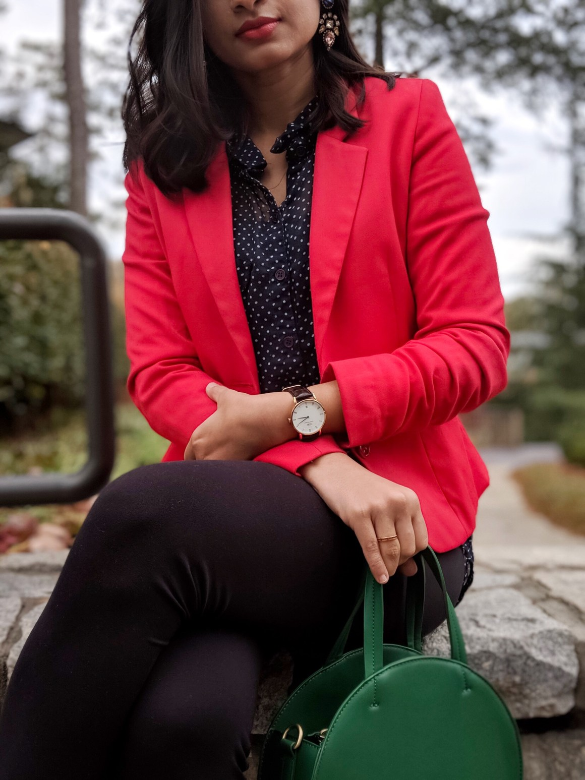 Red Blazer - Daniel Wellington Watch