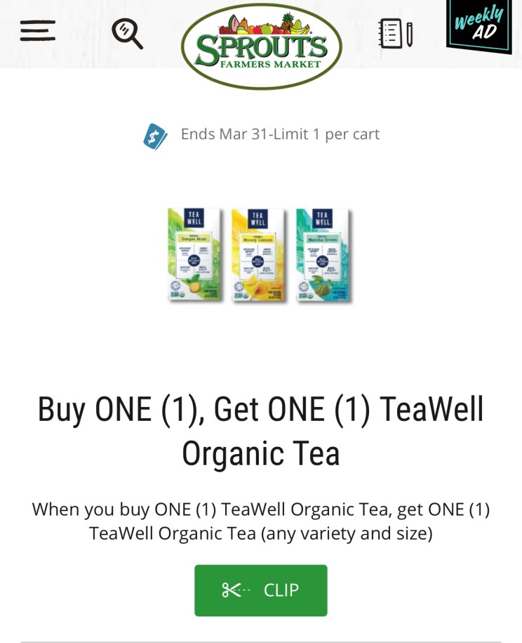 TeaWell Sprouts Coupon