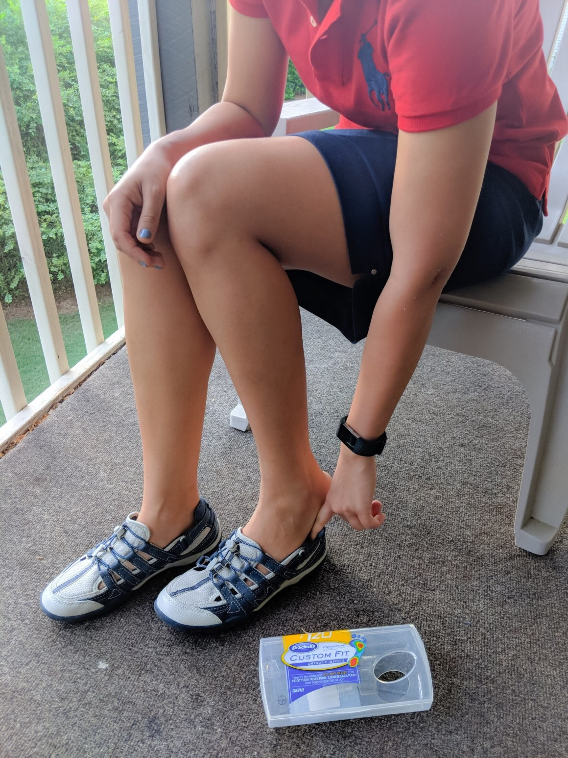 Out & about with Dr. Scholl's® Custom Fit® Orthotic Inserts