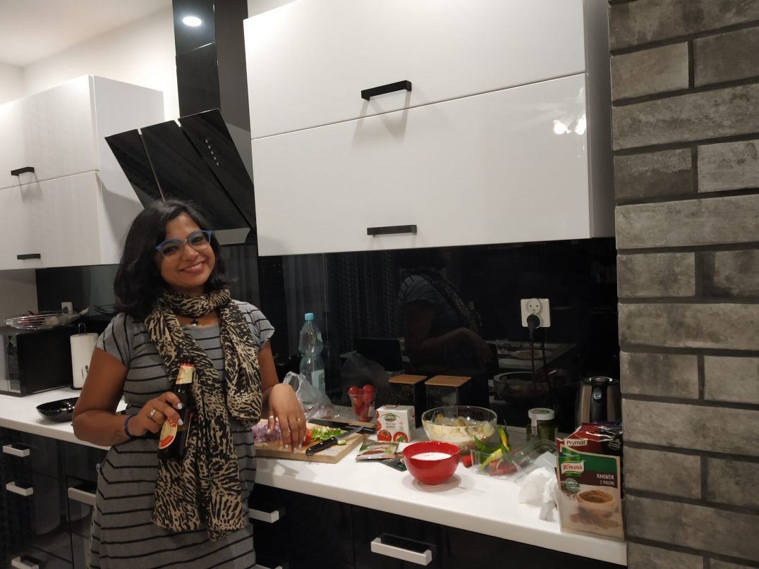 Cooking at my host place