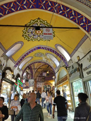 Oranated Ceiling of Grand Bazaar