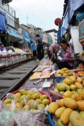 Fruits seller near Tracks
