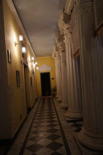 The Corridor with Roman style pillars