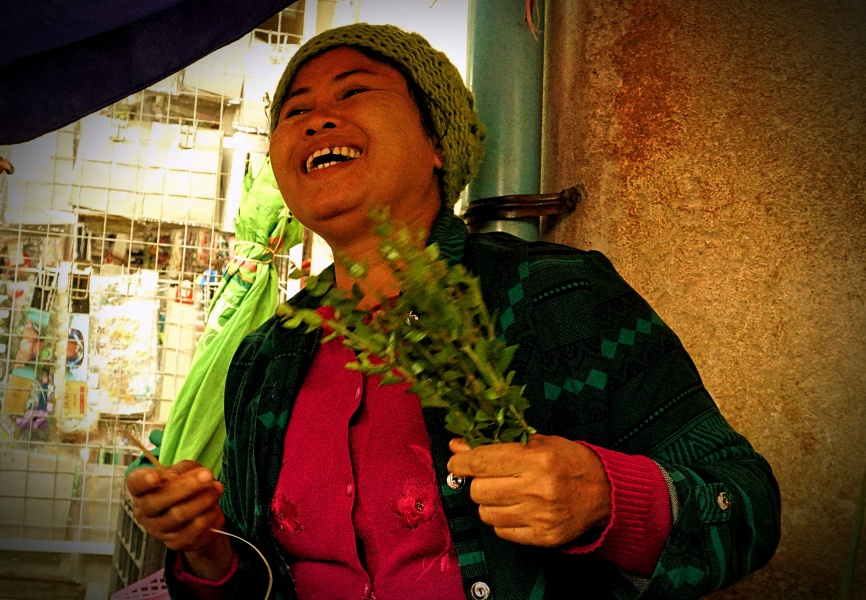 Woman vegetable seller in Mandalay