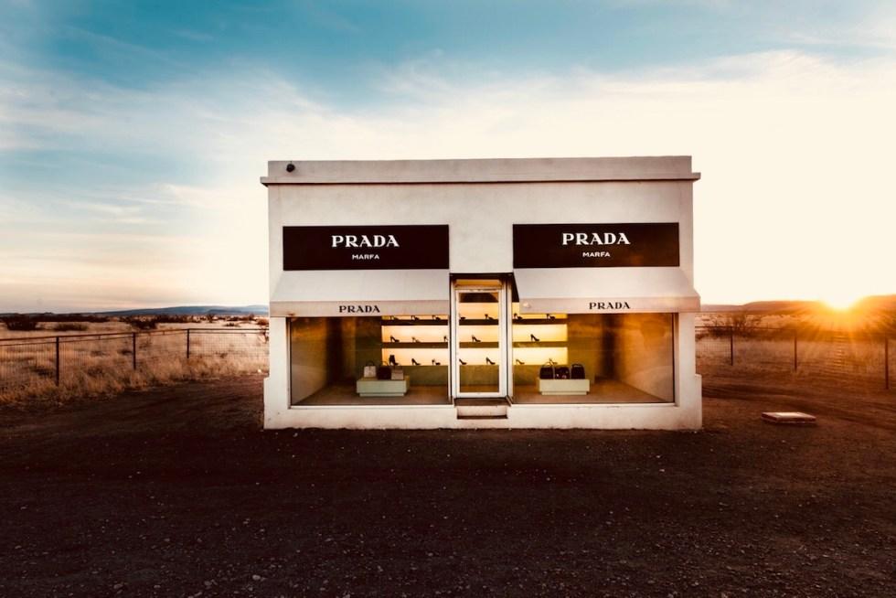 The Prada Marfa installation in Texas.