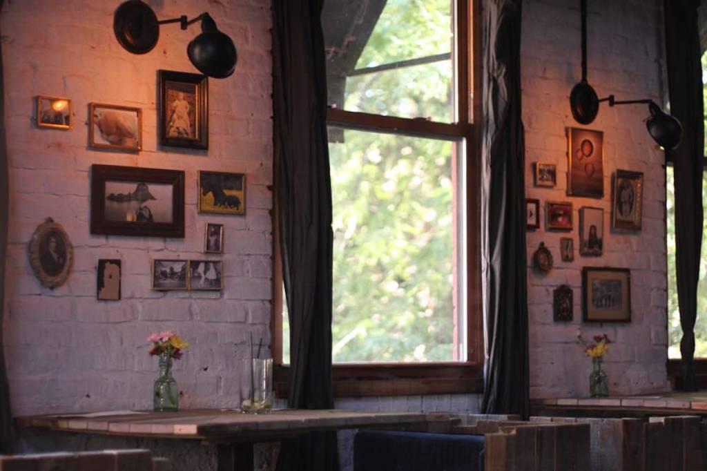 The interior of The Garret, West Village, NYC