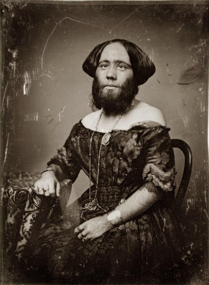 "Photo of ""The Bearded Lady of Geneva"""
