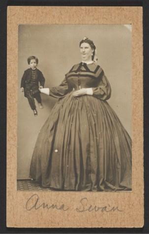 Photograph of giantess Anna Haining Bates