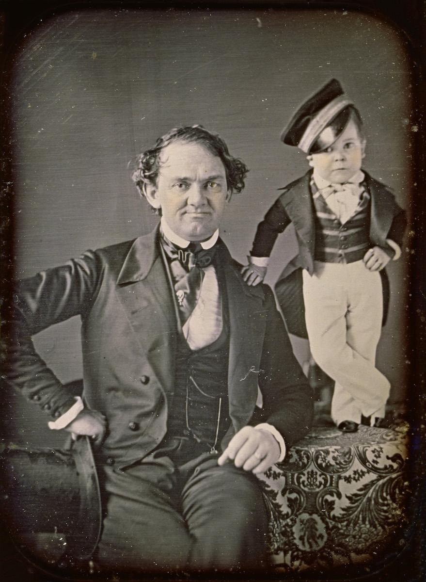 P.T. Barnum and General Tom Thumb- ca. 1850.