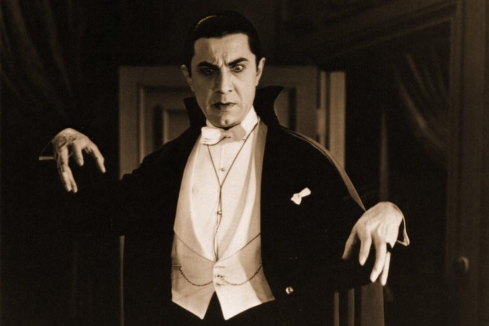 Hungarian-American actor Bela Lugosi portraying Count Dracula in the 1931 film.