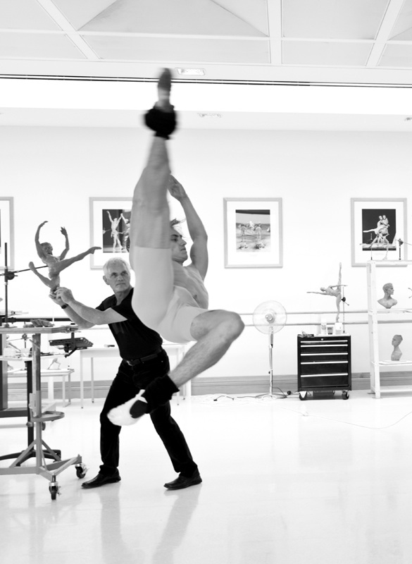 Sculptor Richard MacDonald and classical ballet dancer Sergei Polunin