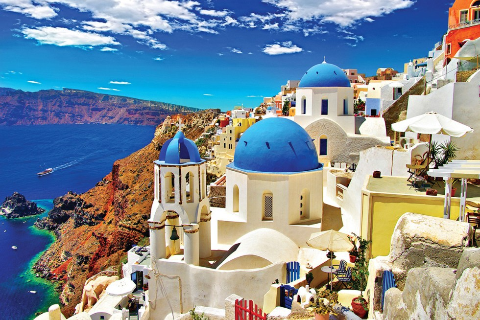The island of Santorini (or Thira) is located in the southernmost part of Cyclades, about 120 miles (200 kilometers) southeast ofGreece's mainland.