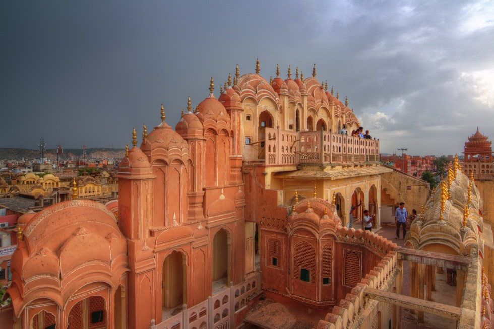 Hawa Mahal in Jaipur, India, known as the building whose construction allowed the women of the royal court to watch the bustle of the city, without being visible to the public.